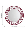 Height of Designs Pink Engineered Wood Chain Link Mirror