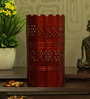 Height of Designs Red Iron Vertical Cutwork Table Lamp