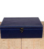 Height of Designs MDF Wood & Leatherette Blue Watch Box