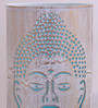Height Of Designs White and Blue Iron Budha Table Lamp