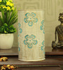 Height Of Designs White and Blue Iron Flower Table Lamp