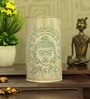 Height Of Designs White and Blue Iron Holy Budha Table Lamp