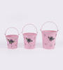 Height of Designs Pink Iron Bee Planter - Set of 3