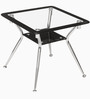 Helix Corner Table in Silver Colour by Godrej Interio