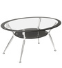 Helix Rectangular Coffee Table in Silver Colour by Godrej Interio