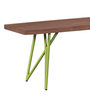 Henday Bench in Green Color Finish by Bohemiana