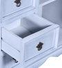 Hendrix Cabinet in Distress Grey Wash Finish by Bohemiana