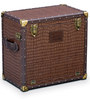 Heritage Brown Color Mini Bar Trunk by Studio Ochre