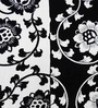 Heritage Fabs Black Cotton Motif Double Bed Sheet (with Pillow Cover) - Set of 3