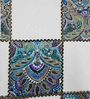 Heritage Fabs Blue Cotton Motif Double Bed Sheet (with Pillow Cover) - Set of 3