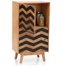 Herringbone Tall Cabinet in Dual Tone by The ArmChair