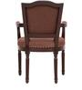 Sanford Arm Chair in Brown Colour by Amberville