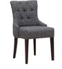 Sanford Accent Chair in Grey Colored Upholstery by Amberville