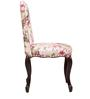 Lorraine Dining Chair in Salmon Pink Floral Print by Amberville