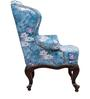 Lorraine Wing Chair in Royal Blue Floral Print by Amberville