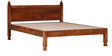 Hiranya Handcrafted King Size Bed in Honey Oak Finish by Mudramark