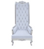 High Back Style Classic Chair with Tufts in White Color by Afydecor