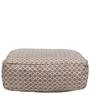 Hippo Square Rug filled canvas Pouffe in Brown by SIWA Style