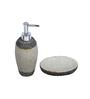 Home Belle Cream Marbel Bathroom Accessories - Set of 4