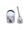Home Belle Purple ABS Plastic Bathroom Accessories - Set of 6