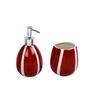 Home Belle Red Ceramic Bathroom Accessories - Set of 4