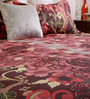Home Creation Pink & Brown Cotton 94 x 86 Inch Double Bed Sheet (with Pillow Covers)