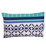 Home Ecstasy Blue Cotton 27 x 17 Inch Pillow Cover - Set of 2