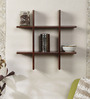 Roman Contemporary Wall Shelf in Brown by CasaCraft