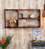 Alameda Contemporary Wall Shelf in Brown by CasaCraft