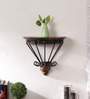Adine Colonial Wall Shelf in Brown by Amberville