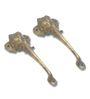Home Sparkle Elephant Carving Brass Maindoor Handle Set