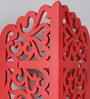 Ghinzu Eclectic Wall Shelf in Red by Bohemiana