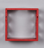 Feelies Eclectic Wall Shelves Set of 3 in Red by Bohemiana