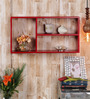 Adonia Contemporary Wall Shelf in Red by CasaCraft