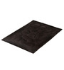 Homefurry Glossy Pebbles Coffee Brown Cotton Bath Mat