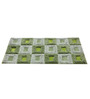 Homefurry Green Polyester 60 x 36 Inch Fat Window Area Rug