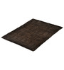 Homefurry Greyish Brown Jigjag 20 X 32 Inch Cotton Bath Mat