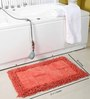 Homefurry Reds Cotton 20 X 32 Inch Bath Mat