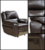 Alexander One Seater Manual Half Leather Recliner by HomeTown