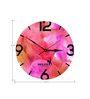 Hoopoe Decor Light Colorful Smoke Designer Wall Clock
