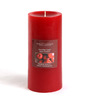 Hosley Apple Cinnamon Highly Scented Red Pillar Candle