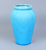 Hosley Blue Ceramic Decorative Crek Vase