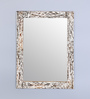 Hosley Brown Resin & MDF Decorative Marble Design Wall Mirror