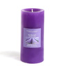Hosley Lavender Fields Highly Scented Purple Pillar Candle