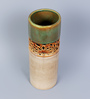 Hosley Olive Brown Ceramic Decorative Cylinder Vase