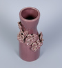 Hosley Purple Ceramic Decorative Flower Vase