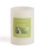 Hosley Sweet Pea Jasmine White Pillar Candle