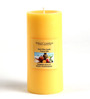 Hosley Tropical Mist Highly Scented Yellow Pillar Candle
