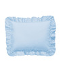 Hothaat Solid Blue King 2Pc Ruffle Pillow Covers