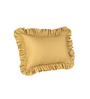 Hothaat Solid Gold Large 2Pc Ruffle Pillow Covers